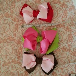 3 handmade bows